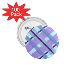 Diagonal Plaid Gingham Stripes 1 75  Buttons (100 Pack)