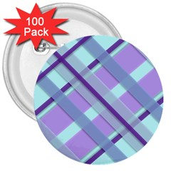 Diagonal Plaid Gingham Stripes 3  Buttons (100 Pack)