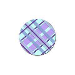 Diagonal Plaid Gingham Stripes Golf Ball Marker