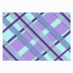 Diagonal Plaid Gingham Stripes Large Glasses Cloth (2 Side)