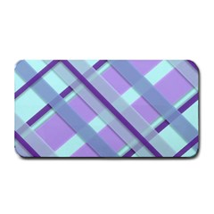 Diagonal Plaid Gingham Stripes Medium Bar Mats