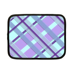 Diagonal Plaid Gingham Stripes Netbook Case (small)