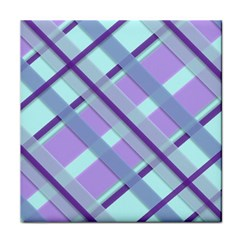 Diagonal Plaid Gingham Stripes Face Towel