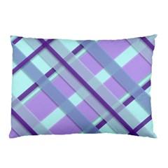 Diagonal Plaid Gingham Stripes Pillow Case