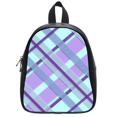 Diagonal Plaid Gingham Stripes School Bag (small)