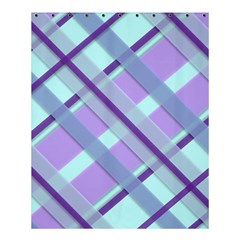 Diagonal Plaid Gingham Stripes Shower Curtain 60  X 72  (medium)