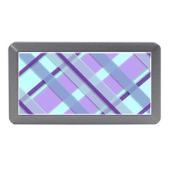 Diagonal Plaid Gingham Stripes Memory Card Reader (mini)