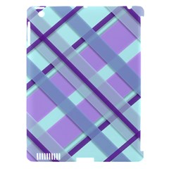 Diagonal Plaid Gingham Stripes Apple Ipad 3/4 Hardshell Case (compatible With Smart Cover)