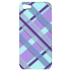 Diagonal Plaid Gingham Stripes Apple Iphone 5 Hardshell Case