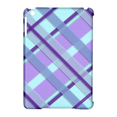 Diagonal Plaid Gingham Stripes Apple Ipad Mini Hardshell Case (compatible With Smart Cover)