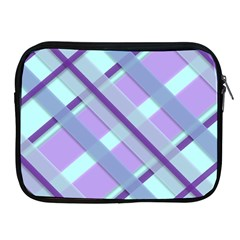 Diagonal Plaid Gingham Stripes Apple Ipad 2/3/4 Zipper Cases