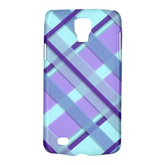 Diagonal Plaid Gingham Stripes Galaxy S4 Active