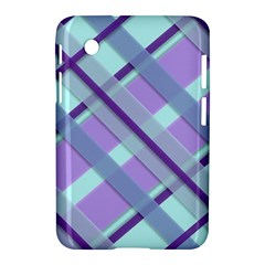Diagonal Plaid Gingham Stripes Samsung Galaxy Tab 2 (7 ) P3100 Hardshell Case