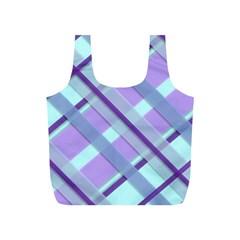 Diagonal Plaid Gingham Stripes Full Print Recycle Bags (s)  by Nexatart