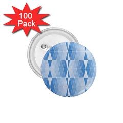 Blue Monochrome Geometric Design 1 75  Buttons (100 Pack)