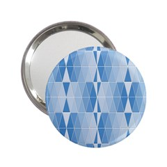 Blue Monochrome Geometric Design 2 25  Handbag Mirrors