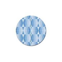 Blue Monochrome Geometric Design Golf Ball Marker