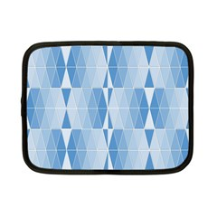 Blue Monochrome Geometric Design Netbook Case (small)