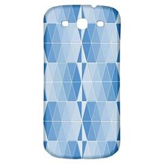 Blue Monochrome Geometric Design Samsung Galaxy S3 S Iii Classic Hardshell Back Case