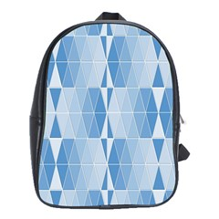 Blue Monochrome Geometric Design School Bag (xl)