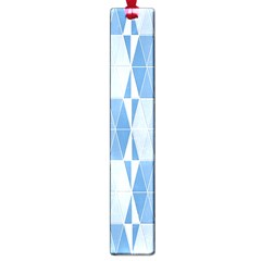 Blue Monochrome Geometric Design Large Book Marks