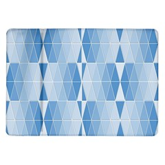 Blue Monochrome Geometric Design Samsung Galaxy Tab 10 1  P7500 Flip Case