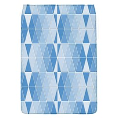 Blue Monochrome Geometric Design Flap Covers (s)