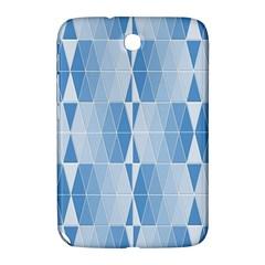 Blue Monochrome Geometric Design Samsung Galaxy Note 8 0 N5100 Hardshell Case  by Nexatart