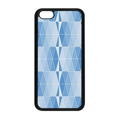 Blue Monochrome Geometric Design Apple Iphone 5c Seamless Case (black)