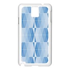 Blue Monochrome Geometric Design Samsung Galaxy Note 3 N9005 Case (white)