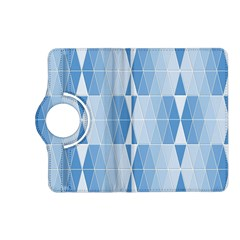 Blue Monochrome Geometric Design Kindle Fire Hd (2013) Flip 360 Case