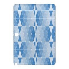 Blue Monochrome Geometric Design Samsung Galaxy Tab Pro 10 1 Hardshell Case