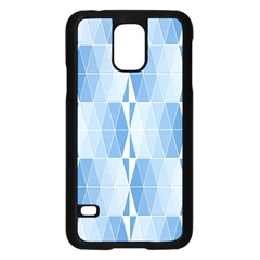 Blue Monochrome Geometric Design Samsung Galaxy S5 Case (black)