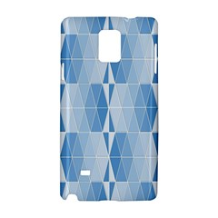 Blue Monochrome Geometric Design Samsung Galaxy Note 4 Hardshell Case
