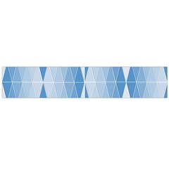 Blue Monochrome Geometric Design Large Flano Scarf