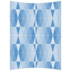 Blue Monochrome Geometric Design Back Support Cushion