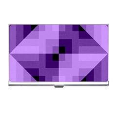 Purple Geometric Cotton Fabric Business Card Holders by Nexatart