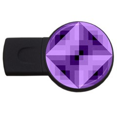 Purple Geometric Cotton Fabric Usb Flash Drive Round (2 Gb) by Nexatart