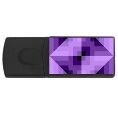 Purple Geometric Cotton Fabric Rectangular Usb Flash Drive by Nexatart