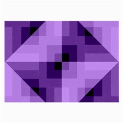 Purple Geometric Cotton Fabric Large Glasses Cloth (2 Side) by Nexatart