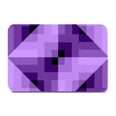 Purple Geometric Cotton Fabric Plate Mats by Nexatart
