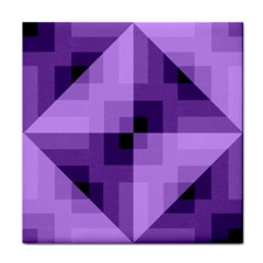Purple Geometric Cotton Fabric Face Towel by Nexatart