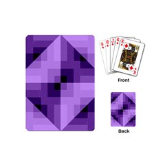Purple Geometric Cotton Fabric Playing Cards (mini)