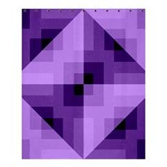 Purple Geometric Cotton Fabric Shower Curtain 60  X 72  (medium)  by Nexatart