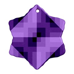 Purple Geometric Cotton Fabric Snowflake Ornament (two Sides) by Nexatart