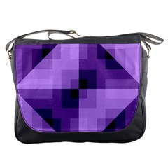 Purple Geometric Cotton Fabric Messenger Bags