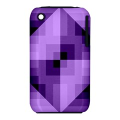Purple Geometric Cotton Fabric Iphone 3s/3gs