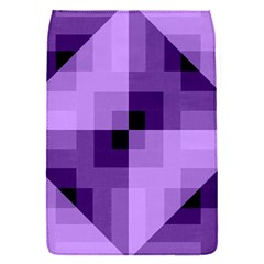Purple Geometric Cotton Fabric Flap Covers (s)  by Nexatart