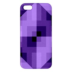 Purple Geometric Cotton Fabric Iphone 5s/ Se Premium Hardshell Case by Nexatart