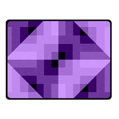 Purple Geometric Cotton Fabric Double Sided Fleece Blanket (small)  by Nexatart